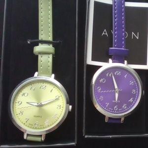 Avon 2011 Watch Set. Violet & Verde Colors.